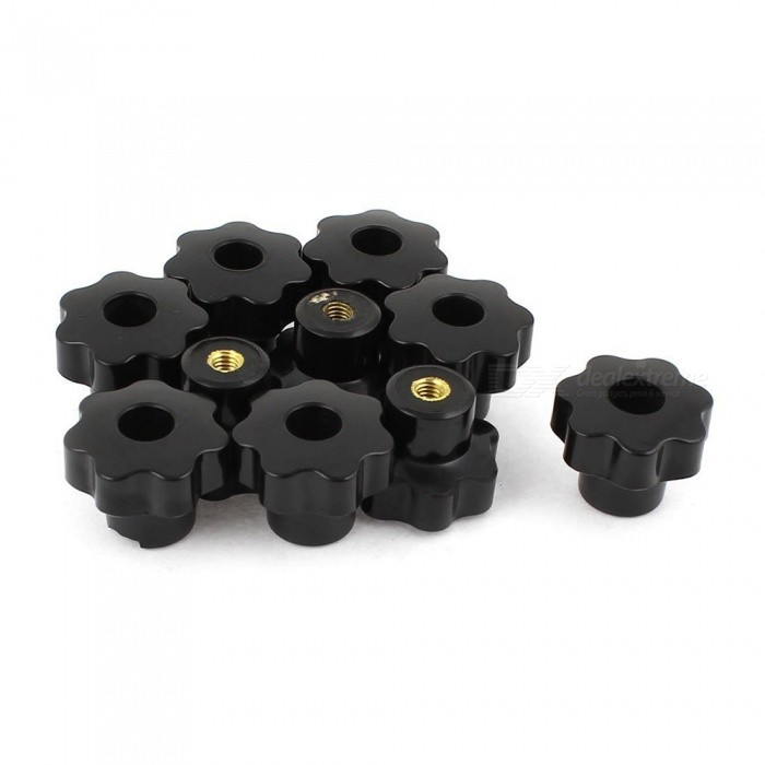 10Pcs 6x30mm Star Knobs Hinge HandlesDIY Parts &amp; Components<br>Form  ColorBlack + Golden + Multi-ColoredQuantity10 piecesMaterialMetal, PlasticEnglish Manual / SpecNoCertificationN/APacking List10 x Star Knobs<br>