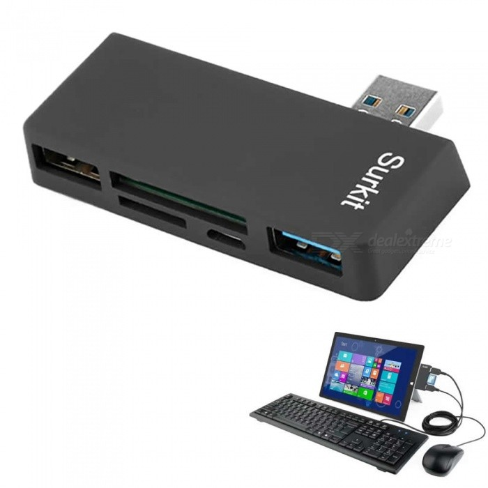 Cwxuan High Speed ​​USB 3.0 Hub, SD TF Kartenleser für Surface Pro 3/4