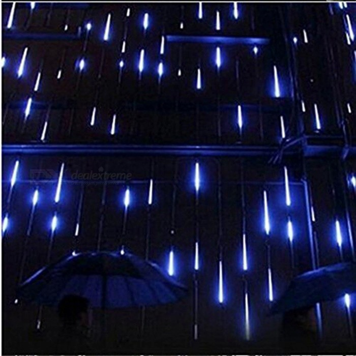 50cm 12W 240 LEDs 8 Tubes Meteor Shower Rain Lights Blue Light