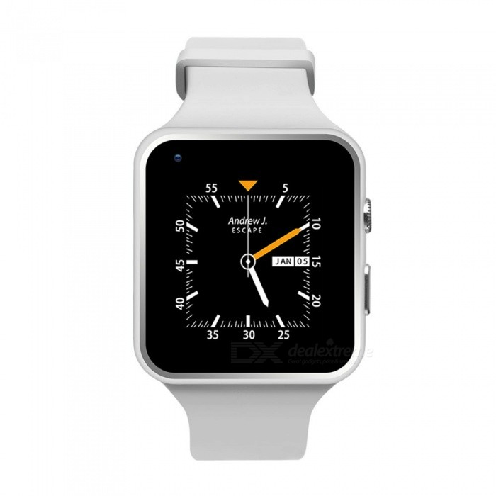 """X6 PLUS 1.54"""" 3G Android Smart Watch - White"""
