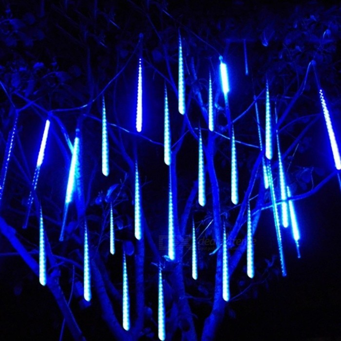 50cm 10-Tube 540 SMD LED Meteor Shower Rain Star-fall LED Lights BlueLED String<br>Form  ColorTransparentColor BINBlueModel5003102MaterialPVCQuantity1 setPowerOthers,270WRated VoltageAC 85-265 VEmitter TypeOthers,2835 SMD LEDTotal Emitters540Color TemperatureN/AWavelength480nmActual Lumens27000 lumensPower AdapterUS PlugsPacking List1 x Falling Rain Lights (10 Meteor Tube)1 x Power adapter (AC85-265V)<br>