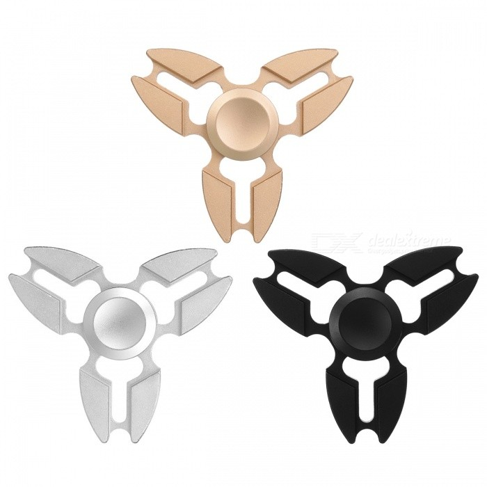 Zanhoo Aluminum Tri Fidget Relieve Hand Finger Spinners (3Pcs)Finger Toys<br>Form  ColorBlack, Silver, GoldenQuantity1 setMaterialAluminumGenderUnisexPacking List3 x Spinners<br>