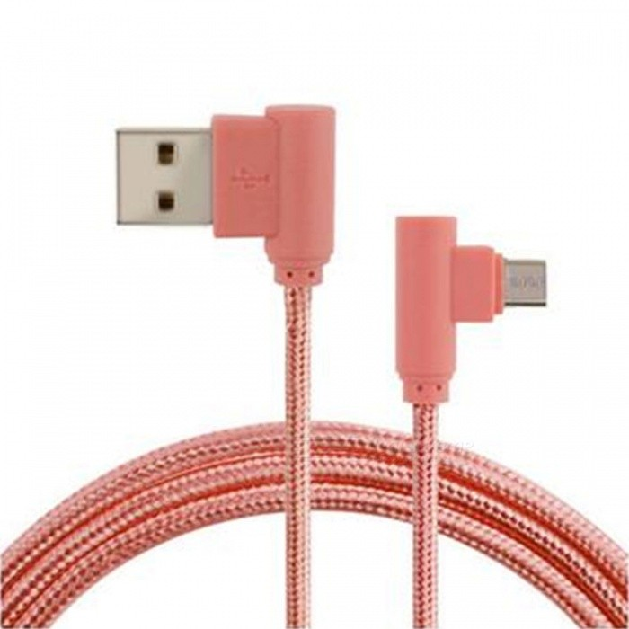 90 Degree Braided Micro USB Charging and Data Transfer Cable
