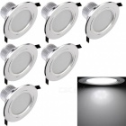 YouOKLight 7.5W Cold White LED Downlight Ceiling Lamp, AC85-265V, 6PCS
