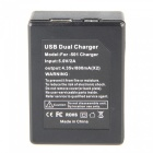 UltraFire Dual Battery Charger with Cable for Gopro Hero 5 - Black