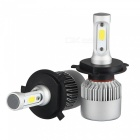 MZ H4 Hi Lo Beam COB 72W Auto Car Headlight Bulbs Kit (2 PCS)