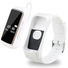Bluetooth-Smart-Bracelet-Watch-Phone-for-IOS-Android-White