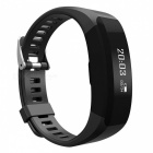 H28 Bluetooth Smart Touch Bracelet with Heart Rate Monitor - Black
