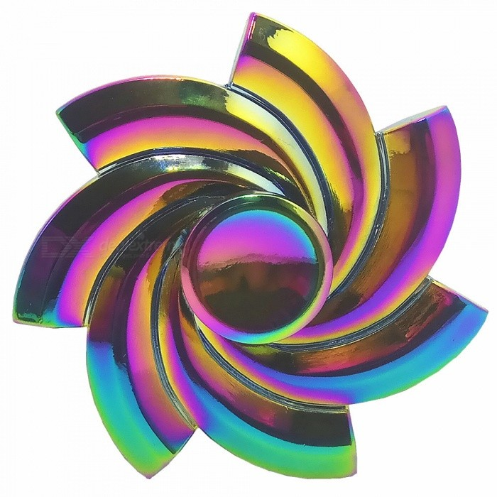 Spinning Flower Shape Zinc Alloy ADHD Fidget Spinner - ColorfulFinger Toys<br>Form  ColorColorfulQuantity1 pieceMaterialZinc AlloyPacking List1 x Fidget Spinner<br>