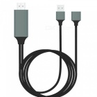 Lighting-to-HDMI-Adapter-Cable-with-USB-Port-Power-Supply-Black-(1m)