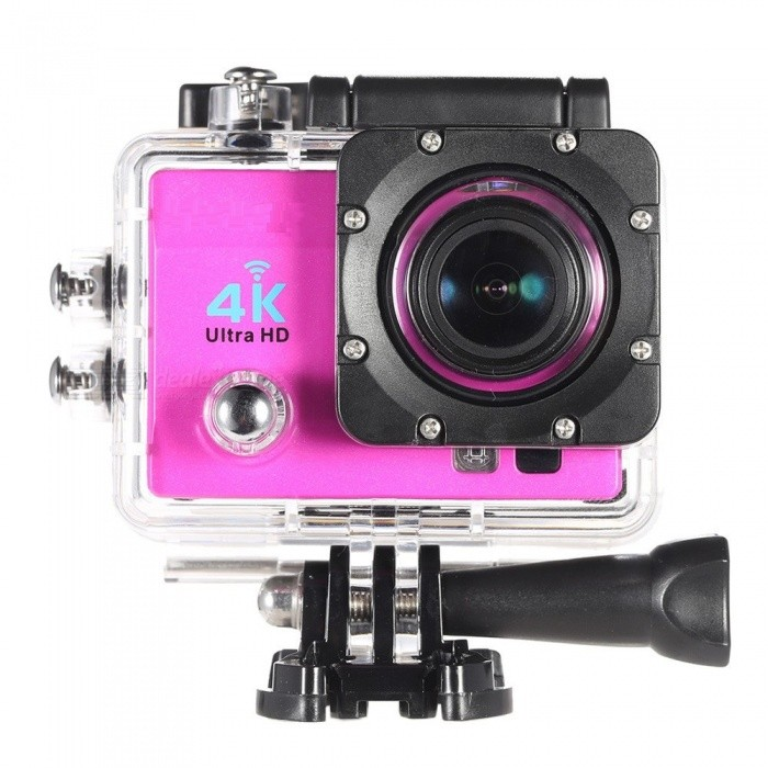 4K Ultra HD 1080P Wi-Fi 16MP Action Camera with 16GB Memory -Deep Pink