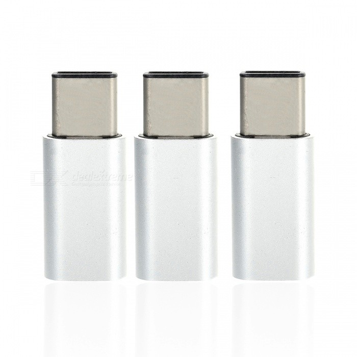 Mini Smile USB 3.1 Type-C to Micro USB Data Charging Adapters (3 PCS)Adapters &amp; Converters<br>Form  ColorSilverModelMC01MaterialAluminium alloyQuantity3 piecesCompatible ModelsSamsung / Huawei/ LG/ OneplusMain FunctionsInterface conversionTransmission Rate10GbpsConnectorUSB 3.1 Type-C / Micro USBCable Length2.5 cmPacking List3 x Adapters<br>