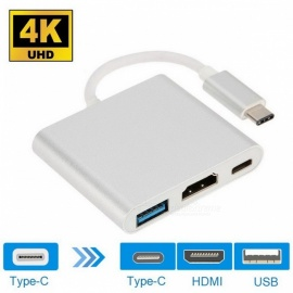 Cwxuan USB 3.1 Type-C to 4K HDMI, USB 3.0, USB-C Adapter