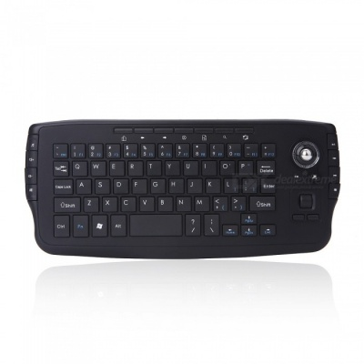 2.4G Mini Wireless Keyboard with Multi-media Trackball Air Mouse