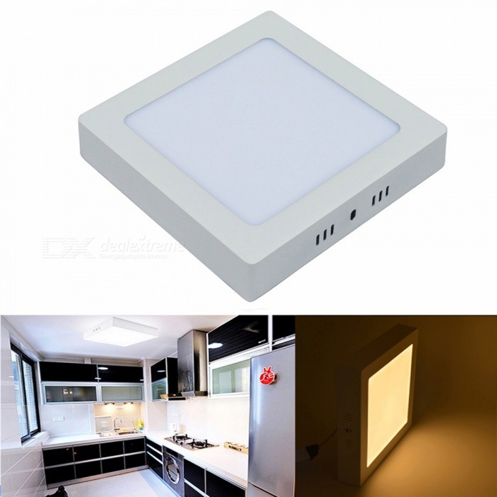 JIAWEN 12W Warm White Surface Mounted LED Ceiling Light Panel LampCeiling Light<br>Form  ColorWhiteColor BINWarm WhiteQuantity1 setMaterialAluminum alloy + PCPower12WRated VoltageOthers,90-265 VChip BrandCreeEmitter TypeOthers,2835 SMDTotal Emitters60Theoretical Lumens960 lumensActual Lumens960 lumensColor Temperature12000K,Others,3000-3200KDimmableNoBeam Angle180 °Packing List1 x LED Panel Ceiling Light1 x Drivers 1 x Packet of mounting screws<br>