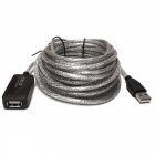 5m USB 2.0 Active Repeater Man till Female Extension Cable-silver