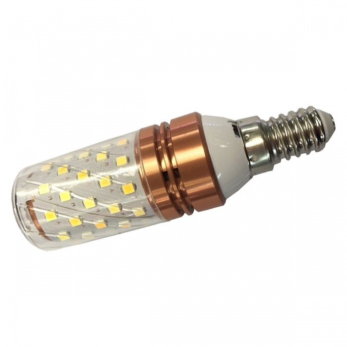 E14 12W 6000K 440LM 40-2835SMD Double Colors Strong LED Candle Bulb