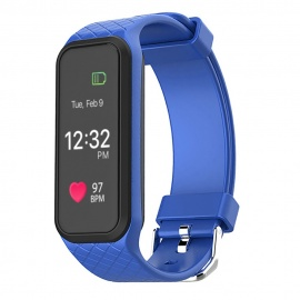 069-inch-OLED-IP67-Smart-Bracelet-with-Heart-Rate-Monitor-Blue