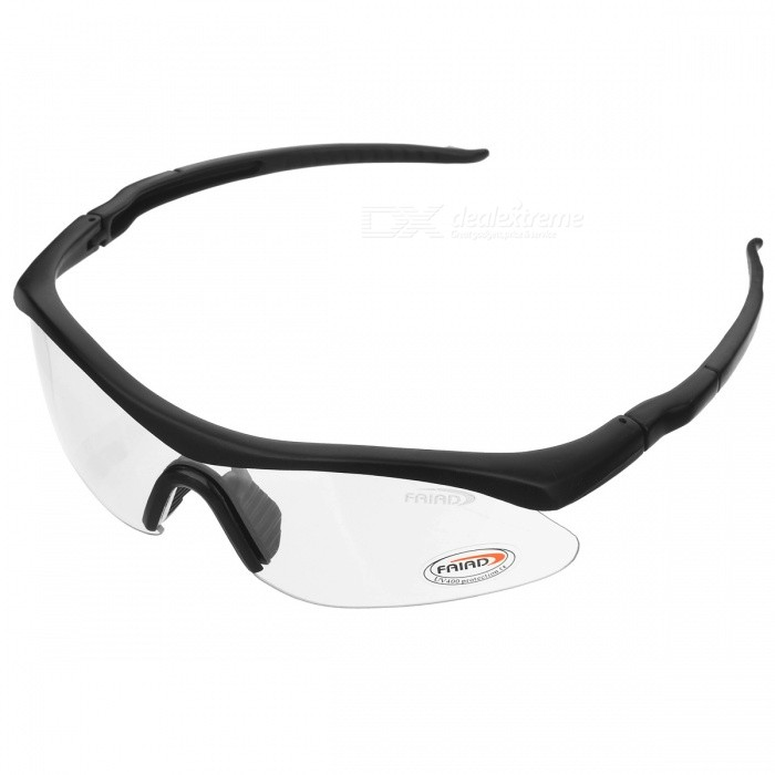 Outdoor Sports UV400 Protection PC Lens Goggles - Transparent, BlackSunglasses<br>Frame ColorBlackLens ColorTransparentQuantity1 pieceShade Of ColorTransparentFrame MaterialPVLens MaterialPCProtectionUV400GenderUnisexSuitable forAdultsFrame Height4.5 cmLens Width4.2 cmBridge Width2.8 cmOverall Width of Frame16 cmPacking List1 x Goggles   1 x Box<br>