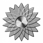 ZHAOYAO-Lotus-Shaped-Finger-Toy-Hand-Spinner-Silver