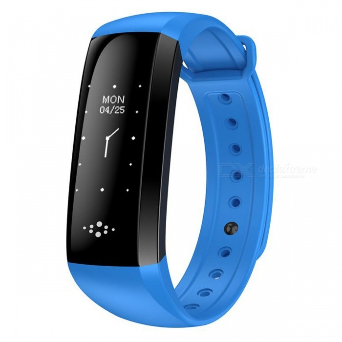 M2S Smart Bracelet with Blood Pressure Heart Rate Monitor - Blue