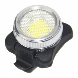 Red White Light 5-Mode Waterproof USB Rechargeable COB LED Taillight