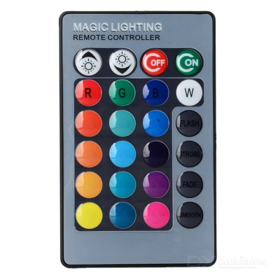 JRLED 24-Key Wireless IR Remote Controller for RGB LED Light Bulb