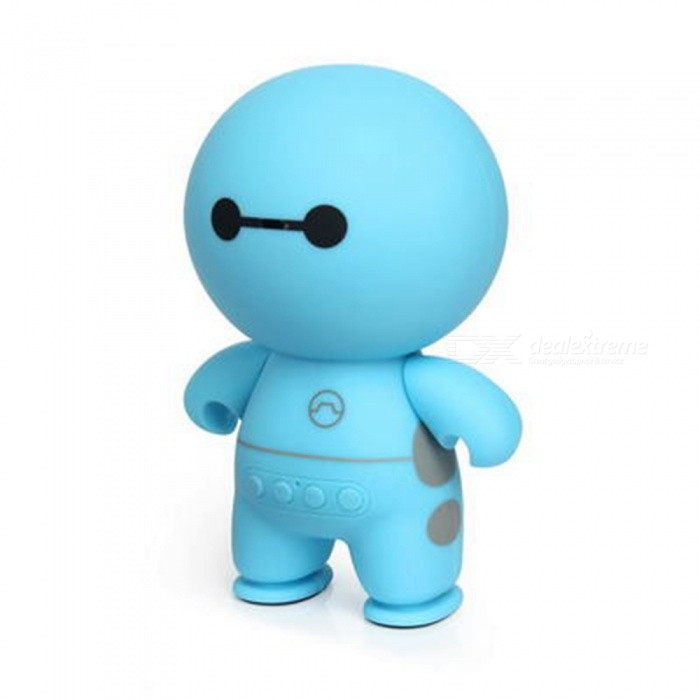 ZHAOYAO-Cartoon-Robot-Style-Portable-Bluetooth-Speaker-Blue