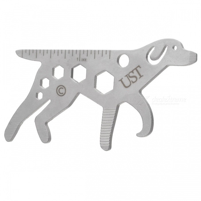 Outdoor Universal Dog Style Camping Multifunction Tool - Silver