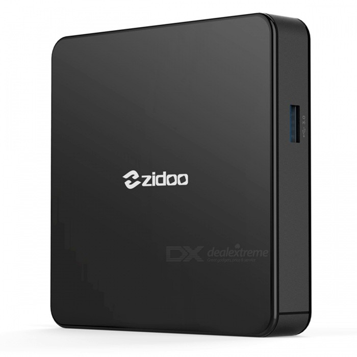 Zidoo X7 Android 7.1.1 Quad-core TV Box with 2GB RAM 8GB ROM (EU Plug)Smart TV Players<br>Form  ColorBlackBuilt-in Memory / RAM2GBStorage8GBPower AdapterEU PlugModelX7Quantity1 pieceMaterialPlasticShade Of ColorBlackOperating SystemOthers,Android 7.1.1ChipsetRK3328CPUOthers,Cortex-A53Processor FrequencyMax 2GhzGPUMali-450 Up to 750MhzMenu LanguageEnglish,French,German,Italian,Spanish,Portuguese,Russian,Japanese,Korean,Chinese Simplified,Chinese TraditionalRAM/Memory TypeDDR3 SDRAMMax Extended Capacity64GBSupports Card TypeMicroSD (TF)External HDD2TBWi-Fi802.11 b/g/n  ac 2.4G/5GBluetooth VersionOthers,4.13G FunctionNoWireless Keyboard/Mouse2.4Ghz/5GhzAudio FormatsMP3,WMA,APE,FLAC,OGG,AC3,DTS,AACVideo FormatsRM,RMVB,AVI,DIVX,MKV,MOV,HDMOV,MP4,M4V,PMP,AVC,FLV,VOB,MPG,DAT,MPEG,H.264,MPEG1,MPEG2,MPEG4,WMV,TP,CD,VCD,DVD,BD,H.265Audio CodecsDTS,AC3,LPCM,FLAC,HE-AACVideo CodecsMPEG-1,MPEG-2,MPEG-4,H.264,VC-1,H.265Picture FormatsJPEG,BMP,PNG,GIF,TIFF,jps(3D),mpo(3D)Subtitle FormatsMicroDVD [.sub],SubRip [.srt],Sub Station Alpha [.ssa],Sami [.smi]idx+subPGSOutput Resolution4KHDMI2.0Audio OutputHDMI/AVVideo OutputHDMI/AVUSBUSB 2.0,USB 3.0Other Interface1 x USB 2.0 /1 x USB 3.0 / 1 x RJ45 (10M/100M) / 1 x HDMI 2.0 / 1 x TF card slot / 1 x DC Jack / 1 x AV / 1 x Optical / 1 x IR portPower Supply100-240VCompatible ApplicationFacebook,Youtube,Skype,Netflix,XBMC,HuluFirmware Upgradewww.zidoo.tvCertificationCE FCC ROHS HDMIPacking List1 x TV Box1 x HDMI Cable (98+/-2cm)1 x Remote Control1 x Power Adapter (EU Plug)1 x English User Manual<br>