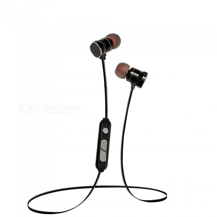 Eastor X3 Sport Bluetooth Magnetic In-Ear Earphone with Mic - BlackHeadphones<br>Form  ColorBlackBrandOthers,EastorModelX3MaterialPlastic + MetalQuantity1 DX.PCM.Model.AttributeModel.UnitConnectionBluetoothBluetooth VersionBluetooth V4.1Operating Range10MConnects Two Phones SimultaneouslyYesHeadphone StyleBilateral,Earbud,In-EarWaterproof LevelOthers,SweatproofApplicable ProductsUniversalHeadphone FeaturesEnglish Voice Prompts,Phone Control,Magnetic Adsorption,Noise-Canceling,Volume Control,With Microphone,Lightweight,Portable,For Sports &amp; ExerciseSupport Memory CardNoSupport Apt-XYesDriver Unit10mmBattery TypeLi-ion batteryBuilt-in Battery Capacity 80 DX.PCM.Model.AttributeModel.UnitStandby Time160 DX.PCM.Model.AttributeModel.UnitTalk Time3 DX.PCM.Model.AttributeModel.UnitMusic Play Time3 DX.PCM.Model.AttributeModel.UnitCertificationCE, FCC, ROHS, MSDSPacking List1 x Earphone1 x Charging Cable1 x Clip4 x Earphone caps1 x User Manual<br>