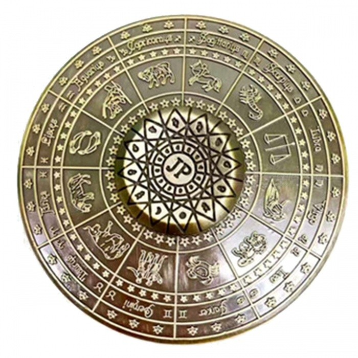 Buy ZHAOYAO Round Shaped 12 Zodiac Gyro Spinner Toy - Bronze with Litecoins with Free Shipping on Gipsybee.com