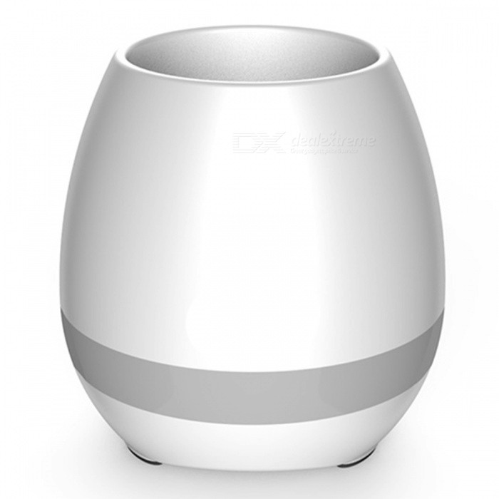Touch-Bluetooth-Flowerpot-Wireless-Speaker-Mini-Home-Plant-Toy-White