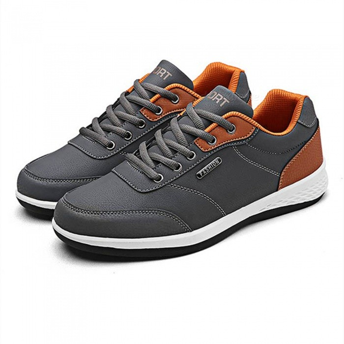 Buy 2865 Men's Breathable Casual Running Shoes - Gray (#41) with Litecoins with Free Shipping on Gipsybee.com