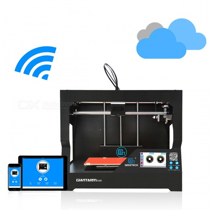 Buy Geeetech GiantArm D200 Large Volume Cloud-based FDM 3D Printer - Black with Litecoins with Free Shipping on Gipsybee.com