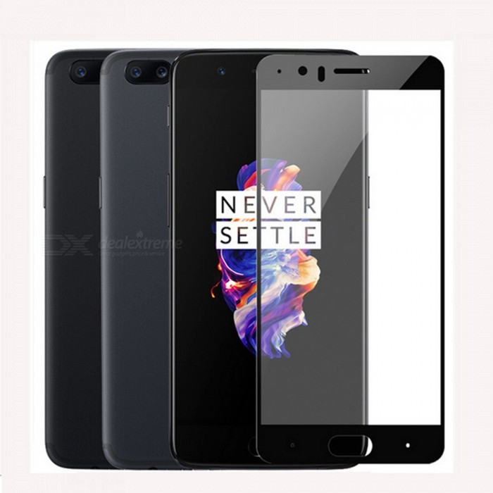 Naxtop Full Screen Protector Tempered Glass for OnePlus 5 - BlackScreen Protectors<br>Form  ColorBlack (1Pcs)Screen TypeGlossyModelN/AMaterialTempered GlassQuantity1 pieceCompatible ModelsOnePlus 5Features2.5D,HD,Fingerprint-proof,Scratch-proof,Tempered glassPacking List1 x Tempered glass film1 x Wet wipe1 x Dry wipe1 x Dust absorber<br>
