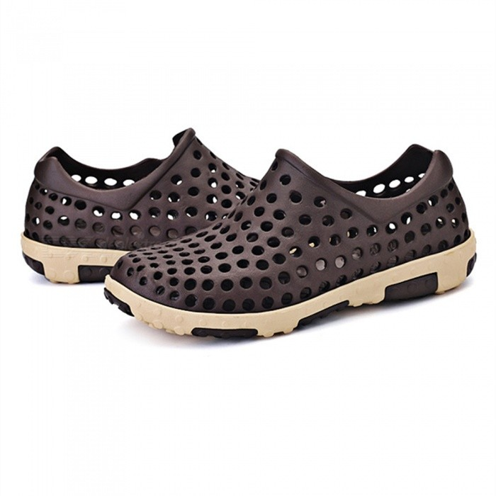 Buy 12029 Summer Breathable Hollow Casual Beach Shoes - Brown (Size 45) with Litecoins with Free Shipping on Gipsybee.com