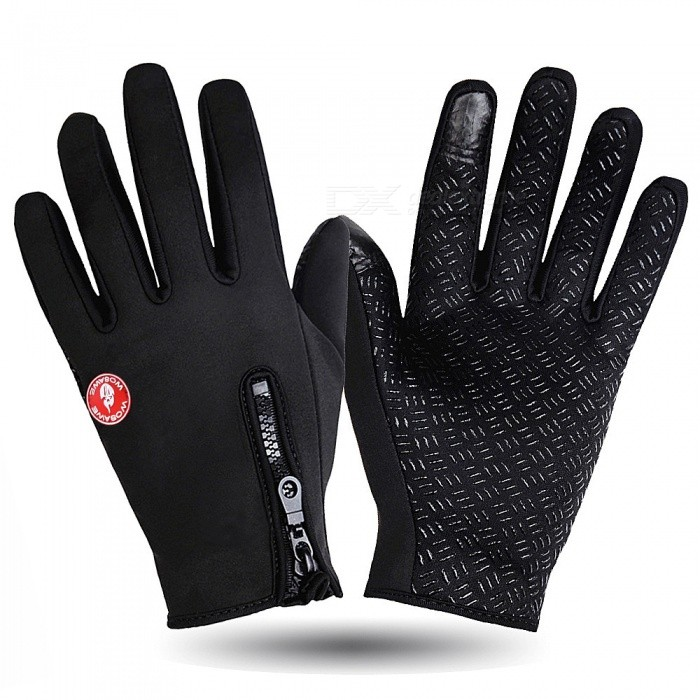 WOSAWE Outdoor Cycling Warm Anti-Slip Full-Finger Gloves - Black (XL)Gloves<br>Form  ColorBlackSizeXLModelBST-004Quantity1 DX.PCM.Model.AttributeModel.UnitMaterialComposite elastic fabric,skid silica particlesTypeFull-Finger GlovesSuitable forAdultsGenderUnisexPalm Girth10.5 DX.PCM.Model.AttributeModel.UnitBest UseCycling,Bike commuting &amp; touringPacking List1 x Pair of Magic Touchscreen Gloves<br>
