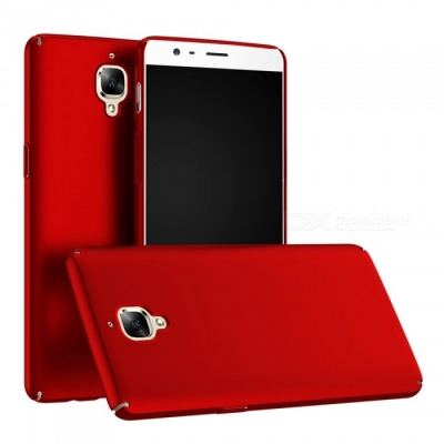 Naxtop PC Hard Protective Back Case for OnePlus 3T, OnePlus 3 - Red