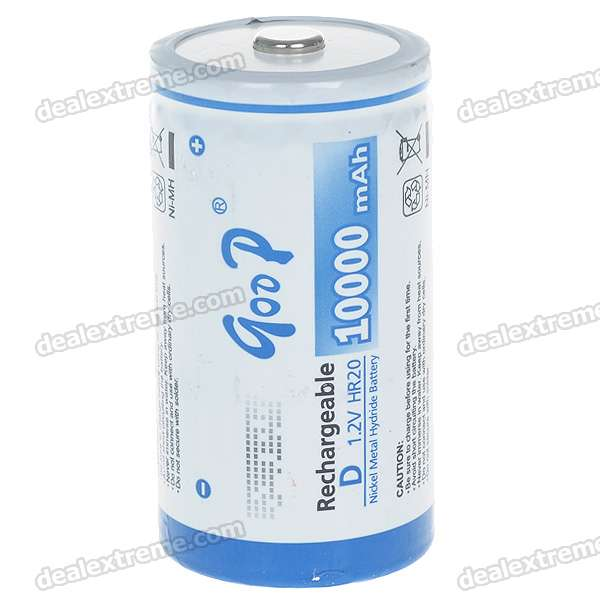 1.2V 10000mAh Rechargeable Ni-MH D Battery