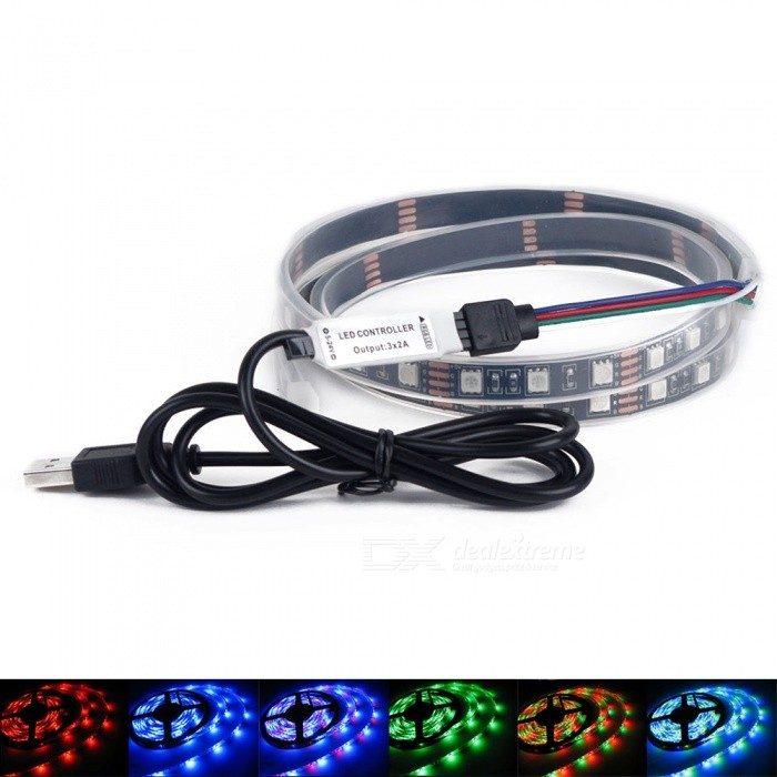 New YouOKLight USB 1m RGB LED Light Strip With 24Key Remote Controller QV48