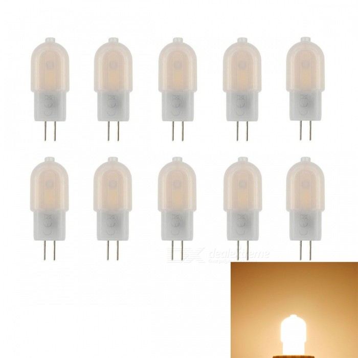 JRLED G4 3W Warm White 18-SMD 2835 LED Light Lamps (10 PCS)G4<br>Color BINAC DC 12V (Warm White)ModelN/AMaterialAluminium alloy + PCForm  ColorOthers,Milky whiteQuantity10 piecesPower3WRated VoltageOthers,AC/DC12 VConnector TypeG4Chip BrandEpistarChip Type2835 SMDEmitter TypeOthers,2835 SMDTotal Emitters18Theoretical Lumens350 lumensActual Lumens300 lumensColor Temperature3000KDimmableNoBeam Angle360 °WavelengthN/ACertificationCE ROHSOther FeaturesSmall size, high brightness, LED light source, long life, can replace 20-30W halogen lamp.Packing List10 x G4 LED Lamps<br>