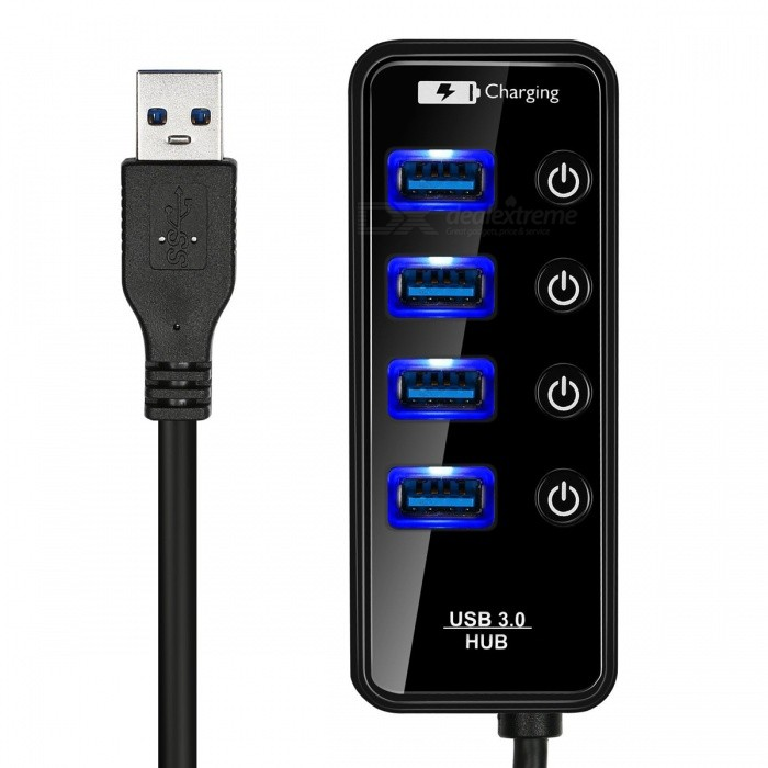 BSTUO-Portable-4-Port-USB30-HUB-with-LED-Light-Black