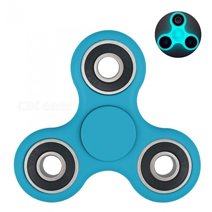 OJADE Fidget Toy Hand Spinner with Blue Luminous Light - Blue - from $2.66