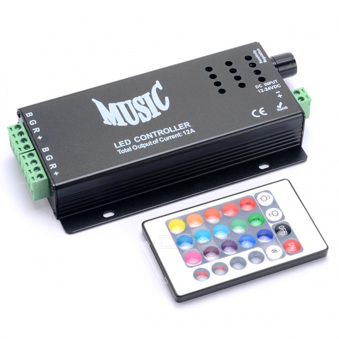 BRG-7-Color-LED-Dimmer-Controller-with-Remote-Control-Black