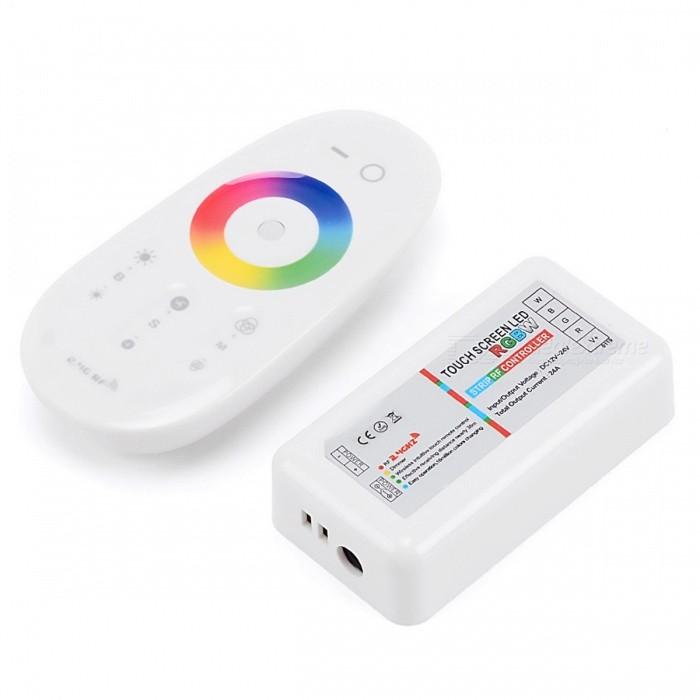 BRG RGBW LED Full Color Touch Dimmer Controller for Led Lights - White