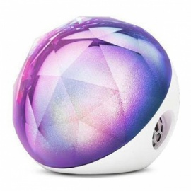 ZHAOYAO-Crystal-Bluetooth-Speaker-with-Colorful-Lights-White