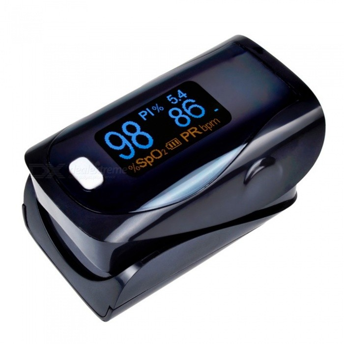 Mini Digital Finger Pulse Oximeter - BlackHeart Rate Monitor<br>Form  ColorBlackShade Of ColorBlackMaterialABSQuantity1 pieceDisplayOLEDBattery Number2Power SupplyAAABattery included or notNoPacking List1 x Fingertip Oximeter (without battery)1 x Lanyard1 x English user manual<br>