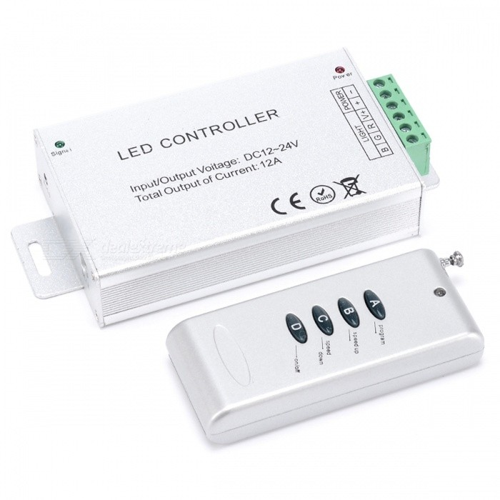 BRG-LED-4-Key-RF-Wireless-Controller-for-RGB-Lights-Dimmer-Controller