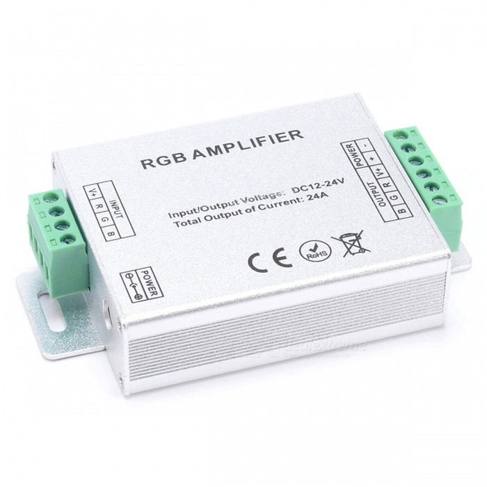 BRG-LED-RGB-Controller-RF-Amplifier-288W-Dimmer-Controller-Silver